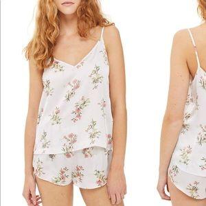 Topshop Garden Flower Camisole & Shorts PJs